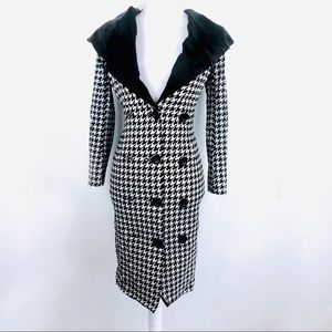 vintage le Palais pin up houndstooth coat